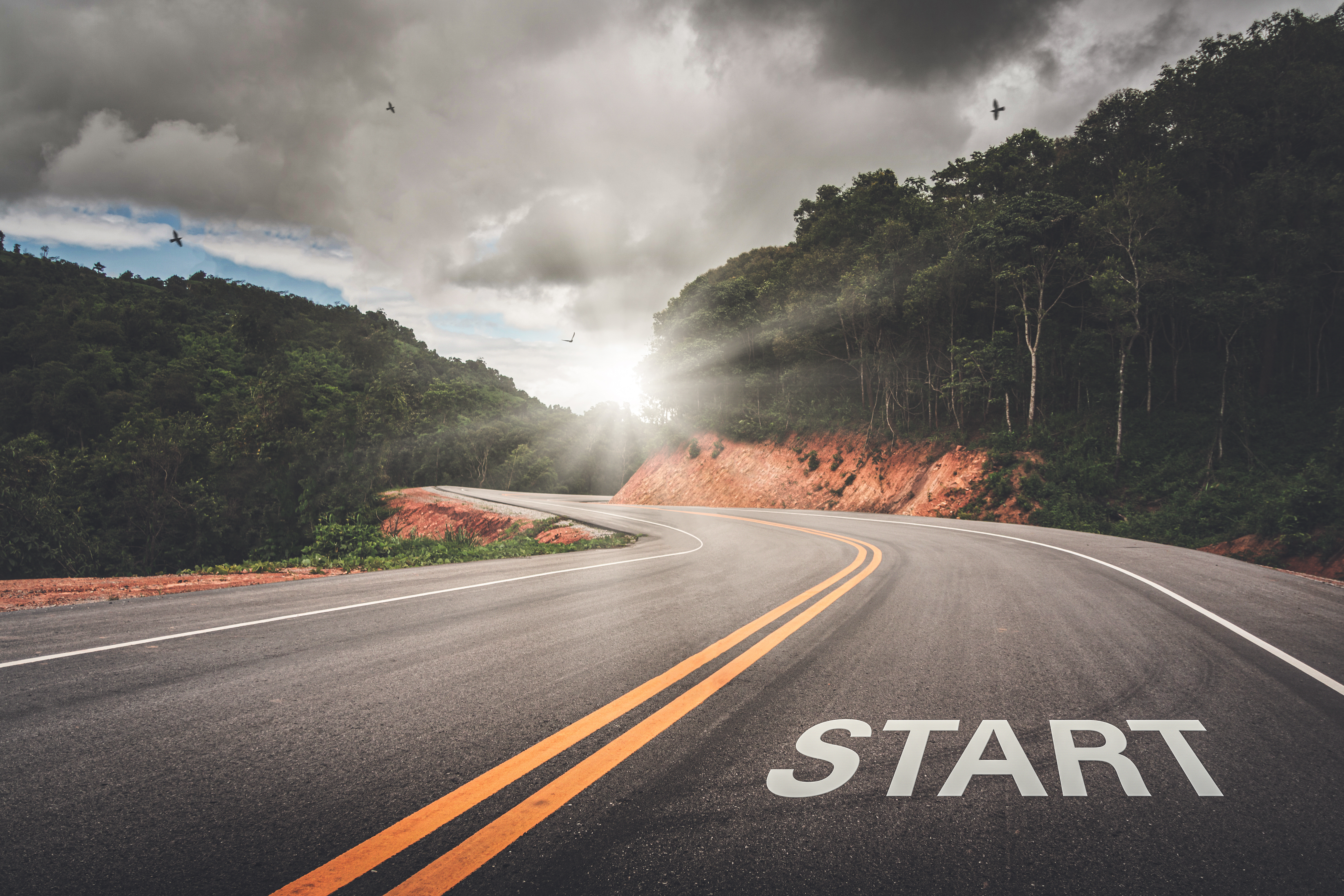 start-point-road-business-your-life-success-beginning-victory